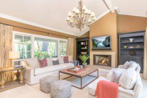 interior design, red pillows, real estate photography, san juan capistrano,