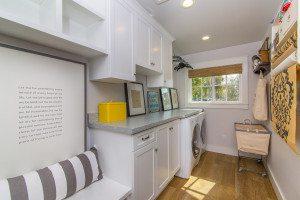 Orange County Real Estate, all white laundry room, design 4