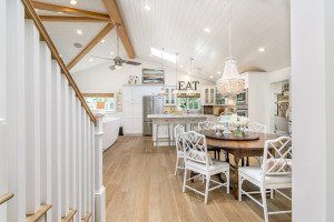 Real Estate Photography, All White Dining area, Beautiful OC All White Kitchen