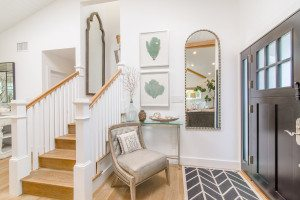 oc real estate photography, all white design , staircase, orange county california