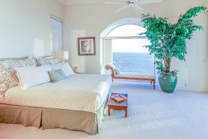 Real estate photographer, beach photography, beautiful all white bedroom
