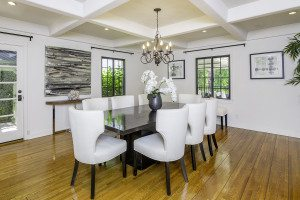 Los Angeles Real Estate Photography, Beautiful White Chairs and wooden Chairs