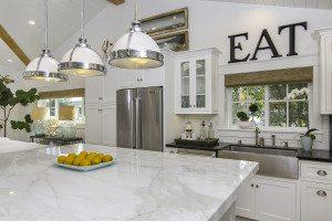 Orange County Real Estate Photo, Amazing Interior All White kitchen, White Marble counter top