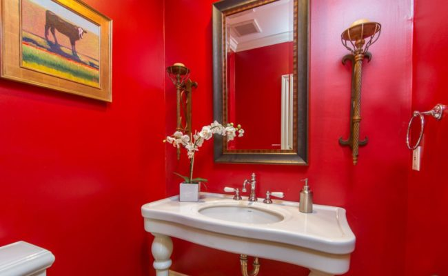 red – bathroom – bathroom design-