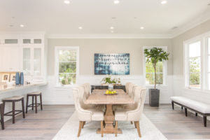 dining room design, dining room staging, cream bathroom chairs