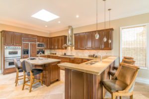 beautiful kitchen design, kitchen skylight, custom kitchen cabinets